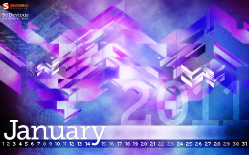 Purple Daze 50 in Desktop Wallpaper Calendar: January 2011