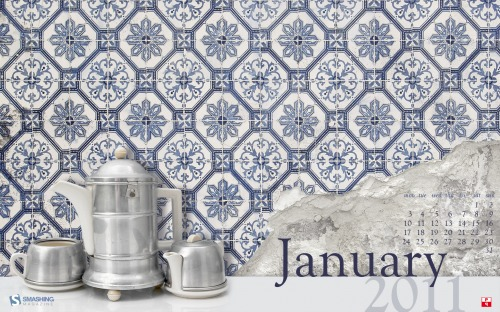 Tea And Tiles 42 in Desktop Wallpaper Calendar: January 2011