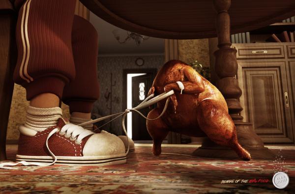 Alka Seltzer: Evil Chicken, ALKA SELTZER, ALMAPBBDO, BAYER, Печатная реклама