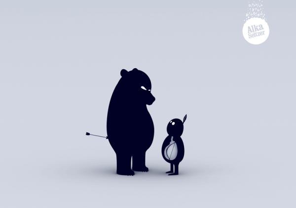 Alka Seltzer: Bear, ALKA SELTZER, CLM/BBDO, Печатная реклама