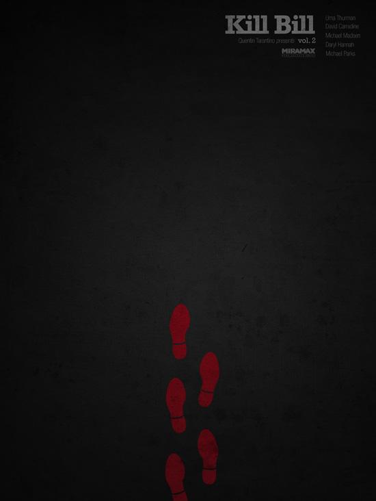 grafika i dizayn  Минималистические постеры к фильмам Квентина Тарантино