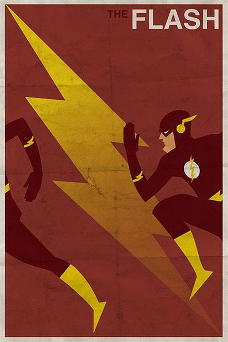 Винтажные афиши супер-героев