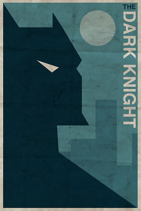 grafika i dizayn  Ретро постеры с супергероями