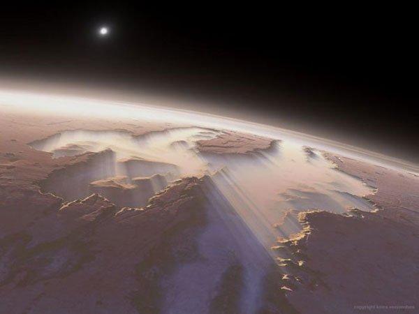 foto  Рассвет на Марсе