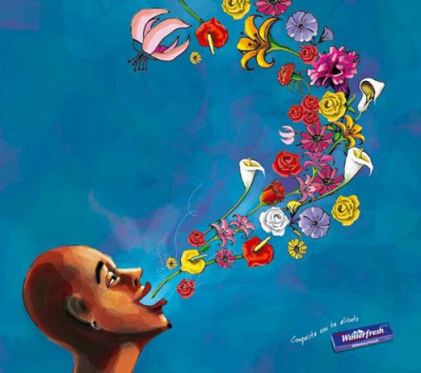 Winterfresh: Flowers, Winterfresh, BBDO Panama, William Wrigley Jr. Company, Печатная реклама