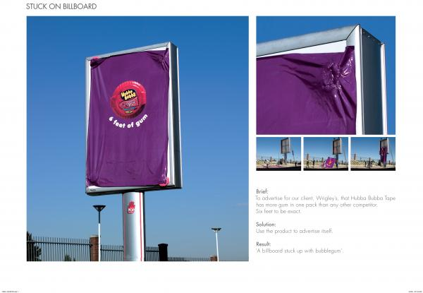 Hubba Bubba: Stuck On Billboard, Hubba Bubba, DDB South Africa, William Wrigley Jr. Company, Печатная реклама