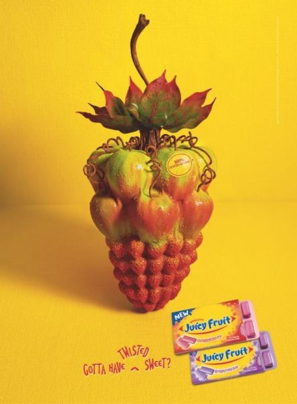 STRAPPLEBERRY, Juicy Fruit, BBDO Chicago, William Wrigley Jr. Company, Печатная реклама