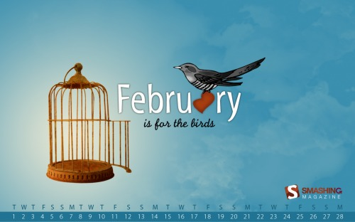 For The Birds 93 in Desktop Wallpaper Calendar: February 2011