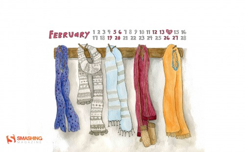 Bundle Up 1 in Desktop Wallpaper Calendar: February 2011