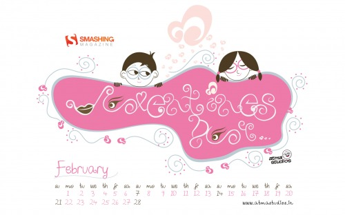 Indian Valentines Day 20 in Desktop Wallpaper Calendar: February 2011