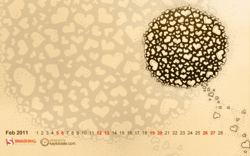 Love Compose 99 in Desktop Wallpaper Calendar: February 2011