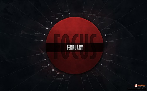 Focus Now 3 in Desktop Wallpaper Calendar: February 2011