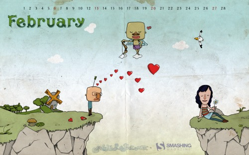 Broken Love 92 in Desktop Wallpaper Calendar: February 2011