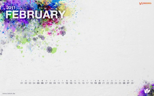Blot 74 in Desktop Wallpaper Calendar: February 2011
