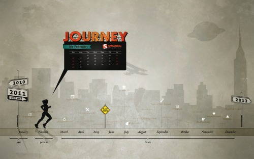 Journey 2 in Desktop Wallpaper Calendar: February 2011
