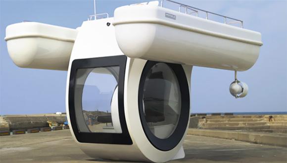 """nauka i izobreteniya  """"EGO"""": катамаран плюс подводная лодка"""