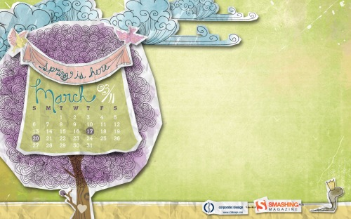 Spring 35 in Desktop Wallpaper Calendar: March 2011