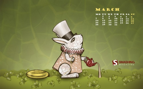March Hare 93 in Desktop Wallpaper Calendar: March 2011