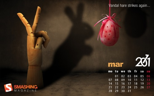 Hand 82 in Desktop Wallpaper Calendar: March 2011