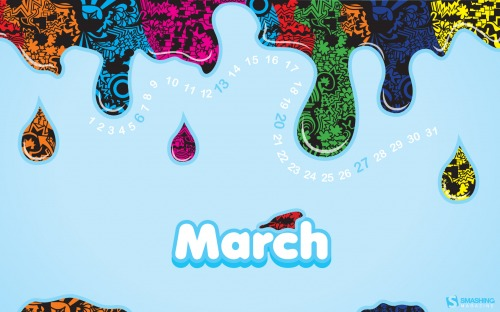 Creative Juice 42 in Desktop Wallpaper Calendar: March 2011