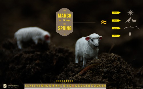Spring 23 in Desktop Wallpaper Calendar: March 2011