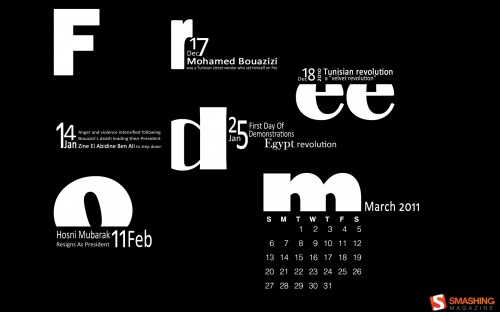 Black Save The Date 81 in Desktop Wallpaper Calendar: March 2011
