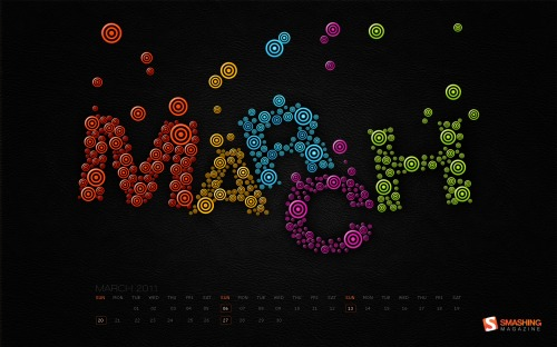 Creative Bubbles 58 in Desktop Wallpaper Calendar: March 2011