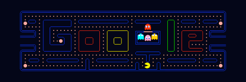 pacman10 hp1 500x167 Top 45 Google Logo Designs
