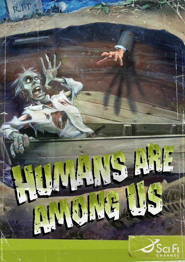Sci-Fi Channel: Zombie, SCI FI CHANNEL, Saatchi&Saatchi Italy, Sci-Fi, Печатная реклама