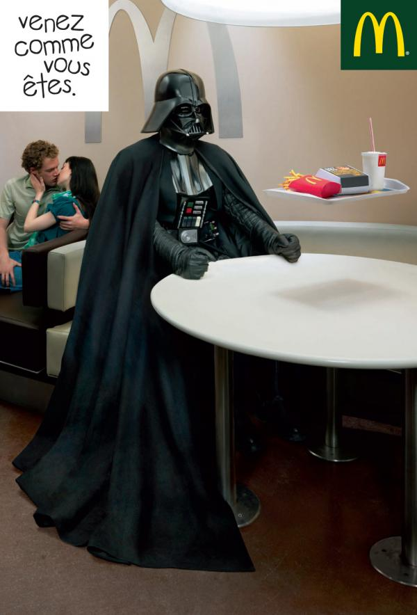 McDonald's: Come as you are - Darth Vader, EURO RSCG BETC, McDONALDS, Печатная реклама