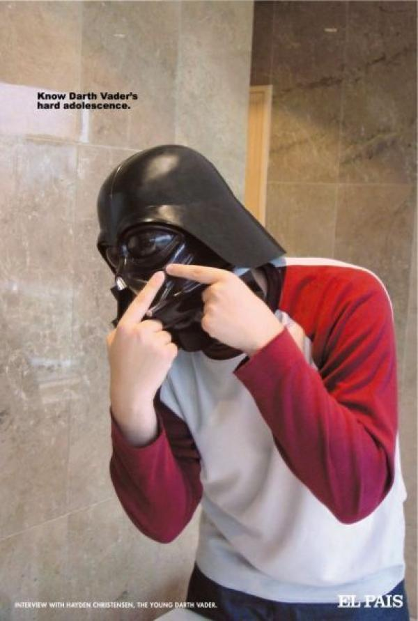 DARTH VADER, EL PAIS NEWSPAPER, CONTRAPUNTO, EL PAIS, Печатная реклама