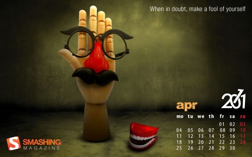 Hand 58 in Desktop Wallpaper Calendar: April 2011