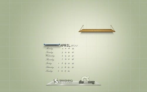 The Smashing Wall 52 in Desktop Wallpaper Calendar: April 2011