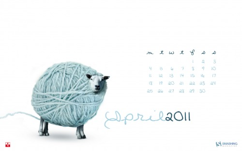 Silly Sheep 14 in Desktop Wallpaper Calendar: April 2011