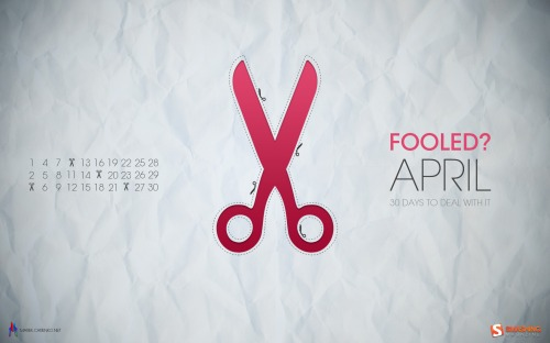 Scissors Trap 74 in Desktop Wallpaper Calendar: April 2011