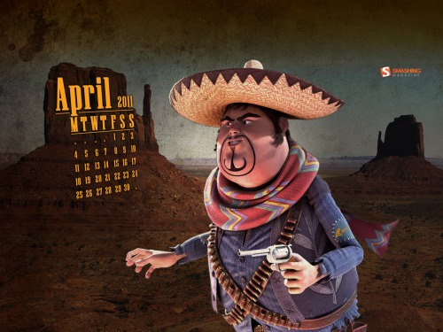 Pablo Cesar 66 in Desktop Wallpaper Calendar: April 2011