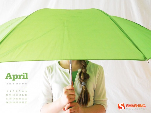 April Showers 33 in Desktop Wallpaper Calendar: April 2011