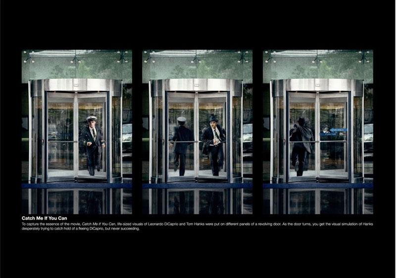 reklama 2  Реклама на вращающихся дверях
