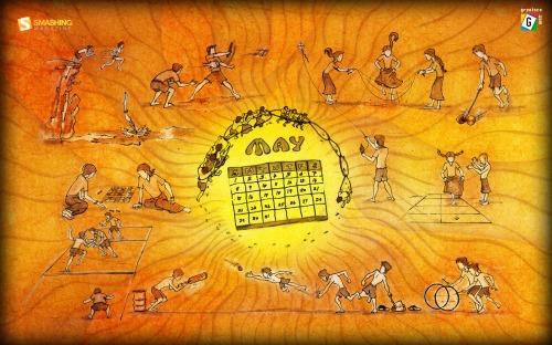 May Sun Brings Fun 66 in Desktop Wallpaper Calendar: May 2011