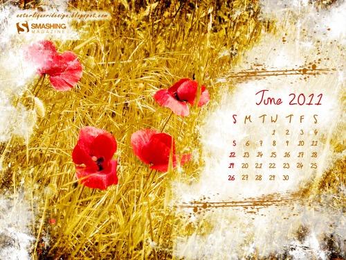 Poppy Summer 91 in Desktop Wallpaper Calendar: June 2011