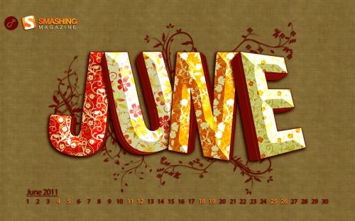 Flowers 84 in Desktop Wallpaper Calendar: June 2011