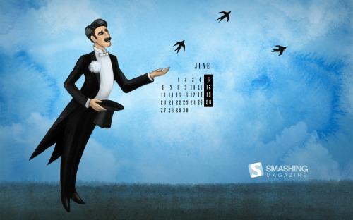 Hirundo Tailcoat 54 in Desktop Wallpaper Calendar: June 2011