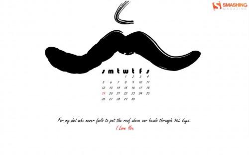 Dearest Daddykins 66 in Desktop Wallpaper Calendar: June 2011