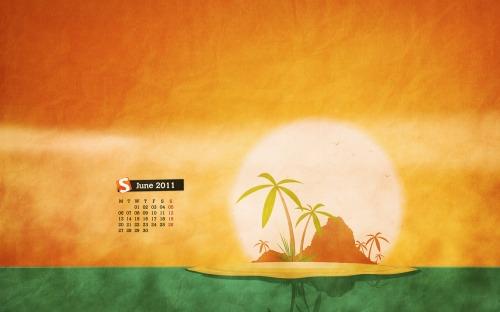 Paradise Lost Island in Desktop Wallpaper Calendar: June 2011
