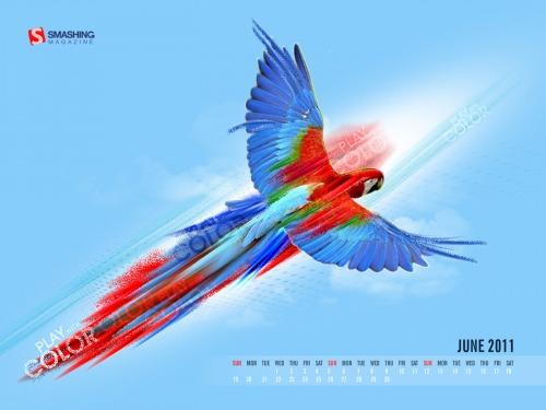 Play With Color 38 in Desktop Wallpaper Calendar: June 2011