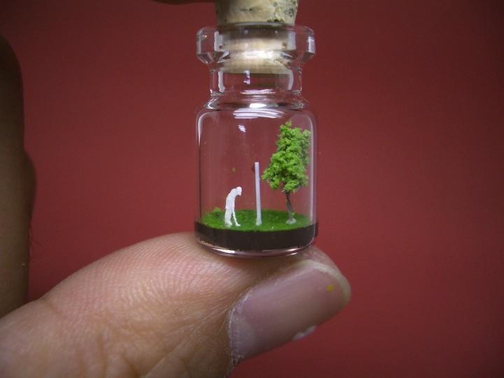 iskusstvo Крошечный мир за стеклом