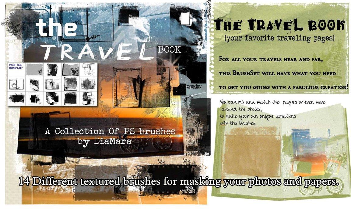 grafika i dizayn  Кисти Photoshop: путешествия