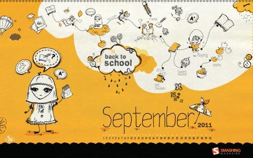 School Fun 2 in Desktop Wallpaper Calendar: September 2011