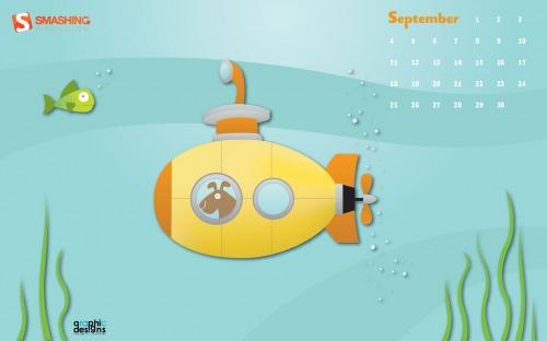 Yellow Submarine 30 in Desktop Wallpaper Calendar: September 2011