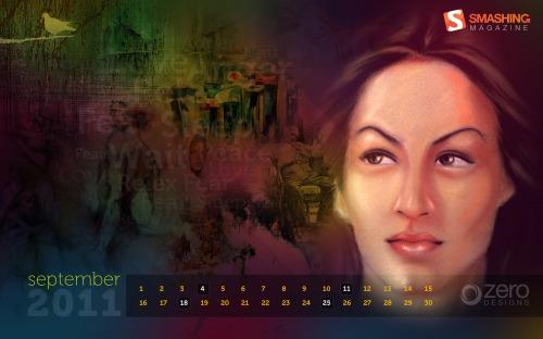 Moods N Moments 72 in Desktop Wallpaper Calendar: September 2011